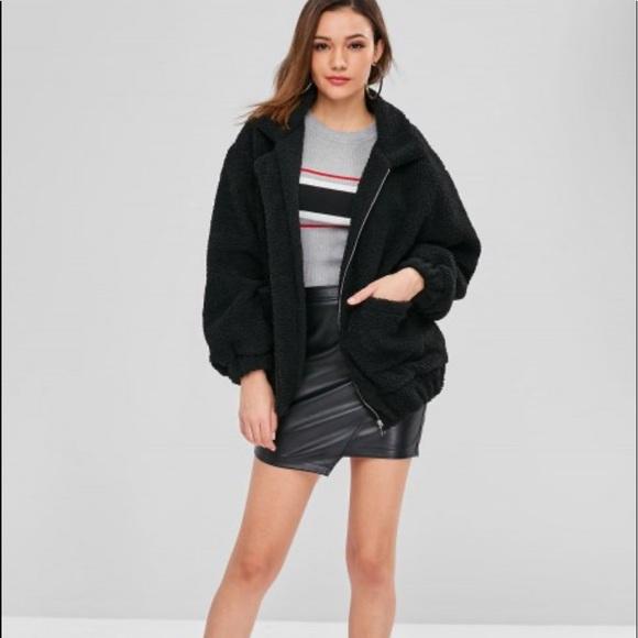 Zaful Jackets & Blazers - black teddy coat